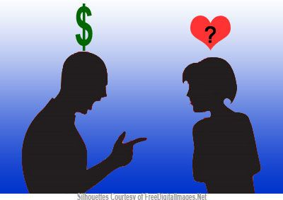 fighting about money or love