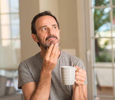 husband contemplating something