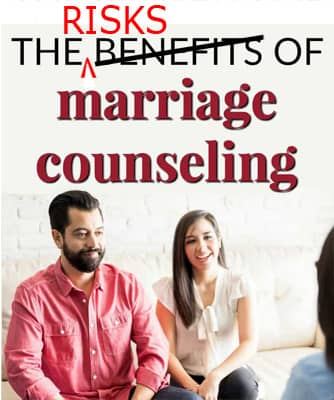 marriage counseling is not good for affairs